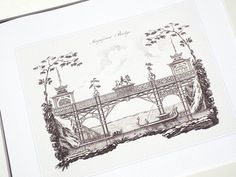 Architectural Drawings Of Bridges sepia pagoda blueprint 4 garden architectural plan archival print