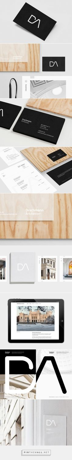 DA Architects Branding, Graphic Design Identity and website for danish architecture firm. Designer: Daniel Siim Copenhagen, Denmark via Behance