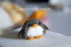 How to needle felt a penguin