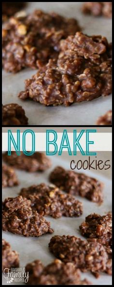 No Bake Cookies are perfect to whip up quick when you are craving chocolate. The oats, cocoa, and peanut butter give the cookie a rich, delicious flavor. via @favfamilyrecipz