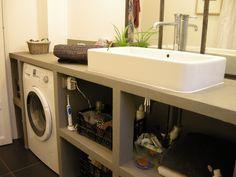Des meubles pour faire dispara tre le lave linge une for Lave linge dans salle de bain