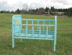 Family Tree Vintage Rentals | Turquoise Newborn Crib | Muskoka, ON  www.tracyfowler.com  (705) 349 1123