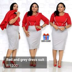 In stock: office and daywear Elegance Boutique, Dress Suits, Dresses, Red And Grey, Gray Dress, Game, Elegant, Chic, Skirts