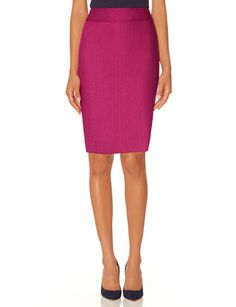 Colorful Herringbone Pencil Skirt from THELIMITED.com