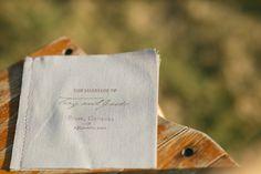 linen ceremony program   Bamber Photography #wedding