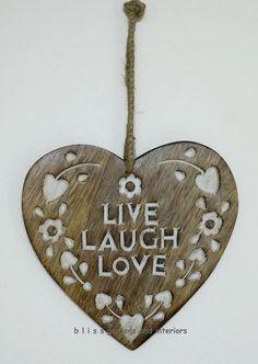 Sass & Belle wooden hanging heart