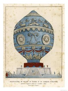 Box Canvas Print (other products available) - PILATRE DE ROZIER and the MARQUIS D& make the first successful manned flight in a Montgolfier balloon (hot air) at Paris - Image supplied by Mary Evans Prints Online - inch Box Canvas Print made in the UK