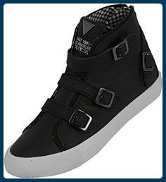 Guess FL4DEDLEA12 Sneakers Damen Leder Schwarz 36 - Sneakers für frauen (*Partner-Link)