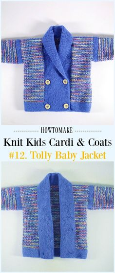 Tolly Baby Jacket Free Knitting Pattern - #Knit Kids #Cardigan Sweater Free Patterns