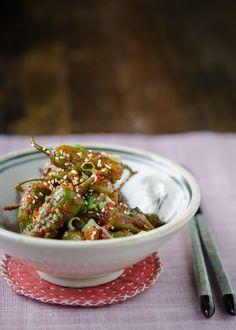 KKWARIGOCHUJJIM aka KUARI GOCHU JJIM (spicy steamed shishito pepper) [Korea] [beyondkimchee]