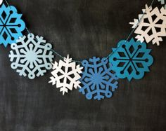 Frozen Party Supplies, Snowflake Banner Party Decor Garland, Dessert Table Decoration, Candy Buffet Decor Disney Frozen Birthday party decor
