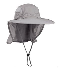 Lenikis Unisex Outdoor Activities UV Protecting Sun Hats A026c4 Grey >>> Details can be found by clicking on the image. Note:It is Affiliate Link to Amazon.