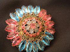 Original By Robert Vintage Brooch Flamboyant Pinks by dianadivine, $85.00