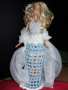 Doll Clothes Patterns, Clothing Patterns, Barbie Accessories, Barbie Dress, Barbie And Ken, Knit Crochet, Creations, Gowns, Dreams