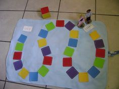 "Thrillingly Thrifty: Toddler Friendly ""Board"" Game using Paint Chips"