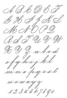 spencerian script alphabet - Google Search