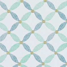 Handsome turquoise/olive embroidery fabric by Duralee. Item DA61196-286. Save…