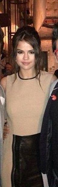 Who made Selena Gomez's black and tan dress? Dress – 3.1 Phillip Lim