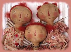 Primitive Angel Dolls E-pattern Annie Angels - pinned by pin4etsy.com
