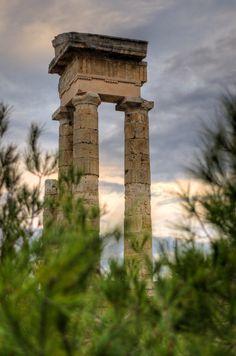 Temple of Apollo, Rhodes, Greece Ancient Greek Theatre, Visit Turkey, Beautiful Islands, Beautiful Places, Places Of Interest, Ancient Greece, Greece Travel, Greek Islands, Historical Sites