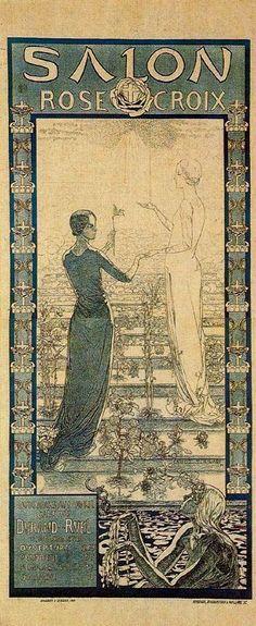 Art nouveau symbolism and prb and some acm on pinterest for Salon rose croix