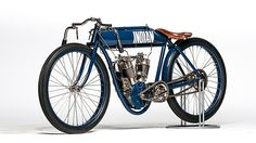 1909 Indian Twin Board Track Racer presented as lot S41. #Mecum #EJCole #Motorcycles #LasVegas