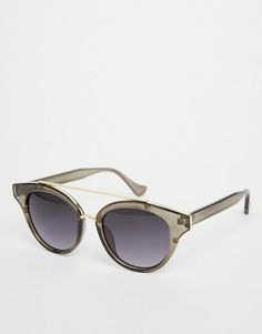 b7eb69e141 AJ Morgan | AJ Morgan Cat Eye Sunglasses in Gray with Brow Bar at ASOS  Lentes · LentesGafas De Sol ...