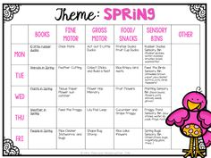 Tons of fun and creative ideas for a spring theme in tot school, preschool, or kindergarten.