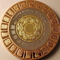 Aztec Tattoos Sleeve, Art Chicano, Maya Civilization, Aztec Culture, Art Tribal, Coin Art, Mexico Art, Gold And Silver Coins, Bullion Coins