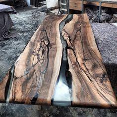 Epoxy-Holztisch, Holztisch, Epoxidharz, Epoxy-Holz, Holztisch – Bricolaje para trabajar la madera – Wood Table – New Epoxy