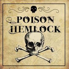 """Poisonous Plants:  """"Poison #Hemlock"""" label."""