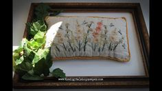 The Digital Shopkeeper 's Embroidered Pillow Vintage