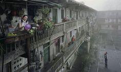 "Olvidar... ""忘れる… / Chen Jiagang 1962年重慶市生まれ、建築家、写真家。重慶Jianzhu大学で建築を学び、1999年に世界の12の ""優秀な若手建築家""の一人として国連に認定。急成長の中国の都市の、ブラウンフィールドと停滞を反映している写真"" 自動翻訳より原文スペイン語"