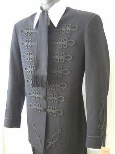 Hungarian : vitézkötéses atilla Folk Fashion, Mens Fashion, Hungarian Embroidery, Folk Costume, Embroidery Dress, Fashion History, Traditional Dresses, Couture, Mens Suits