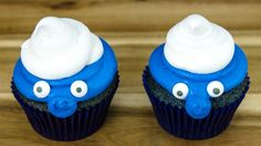 Blue Velvet Smurf Cupcakes by Cookies Cupcakes and Cardio