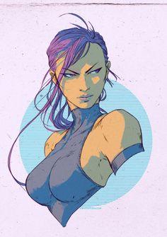 Psylocke by DavidRapozaArt.deviantart.com on @deviantART