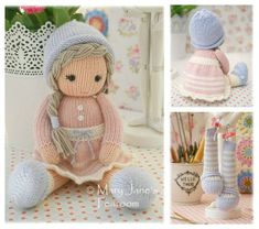 New! Little Yarn Dolls: Method 2/ Doll Knitting Pattern / Toy Knitting Pattern/ Knitted Dolls/ INSTANT Download by maryjanestearoom | Etsy Shop for maryjanestearoom | Bloglovin'