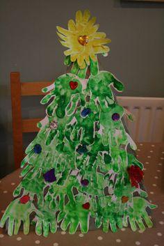The Imagination Tree: Handprint Christmas Tree #babies #toddlers