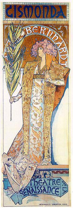 Alphonse Mucha.  Art Nouveau.  Nice palette.