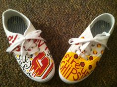 Central Michigan University Shoes by KaitlynsPaintedShoes on Etsy- Would LOVE to get these for school! So cute and affordable!