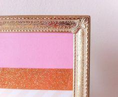 Vintage Gold Picture Frame 5x7 Metal Frame Filigree by RetroTiles #vintage wedding #filigree #small picture frame #table number