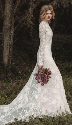 Wedding dress idea; Featured Dress: Rue De Seine, Featured Photography: Jessica Sim