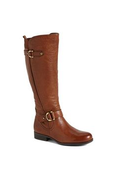 Naturalizer 'Jersey' Leather Riding Boot (Wide Calf) (Online Only) available at #Nordstrom
