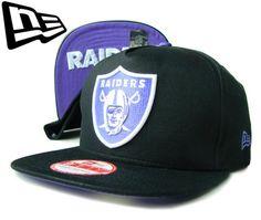 """【ニューエラ】【NEW ERA】9FIFTY SNAPBACK OAKLAND RAIDERS """"FLIP UP"""" アンダーバイザー ブラックXパープル スナップバック【CAP】【newera】【帽子】【オークランド・レイダース】【NFL】【snap back】【黒】【紫】【キャップ】【あす楽】【楽天市場】"""