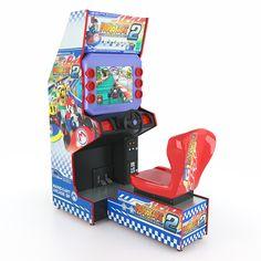 3D Model Simulator Kart Racing Arcade Machine - 3D Model