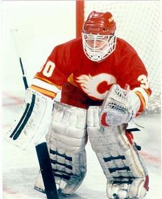 Mike Vernon, 1st time with the Flames Darryl's dream was to be a goalie and play for the Calgary Flames