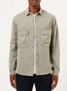 Seagrass Green Utility Overshirt