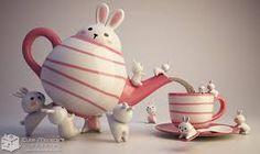 B is for Bunny teapot Cute Teapot, Tea Cup Set, Bunny Art, Chocolate Pots, Decoration Table, Ceramic Art, Ceramic Design, Tea Time, Bunnies