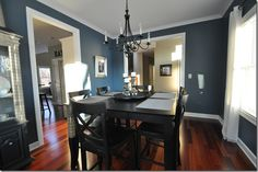 Paint color, Smokey Blue (Sherwin Williams) is my bathroom color  LOVE this colour