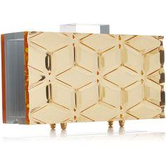 L'Afshar Medium Bianca Gold Mirror Clutch (64.115 RUB) ❤ liked on Polyvore featuring bags, handbags, clutches, gold handbags, beige clutches, mirror purse, beige handbags and gold purse